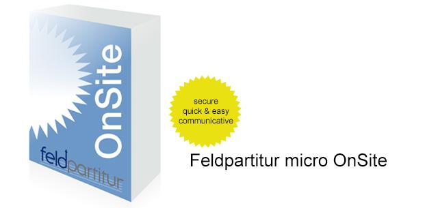 Feldpartitur micro V-OnSite