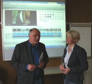 Prof. Horst Niesyto und Dr. Christine Moritz im Gespräch